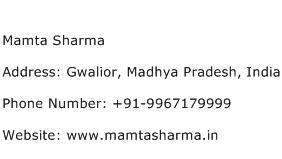 Mamta Sharma Address Contact Number