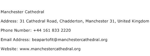 Manchester Cathedral Address Contact Number