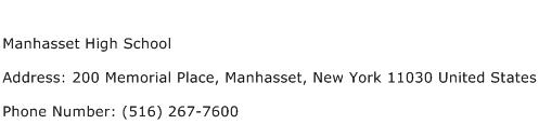 Manhasset High School Address Contact Number