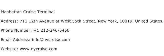 Manhattan Cruise Terminal Address Contact Number