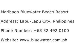 Maribago Bluewater Beach Resort Address Contact Number
