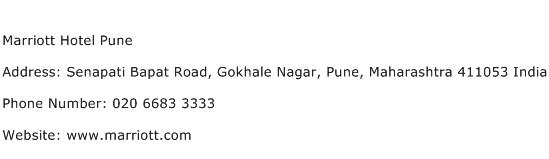 Marriott Hotel Pune Address Contact Number