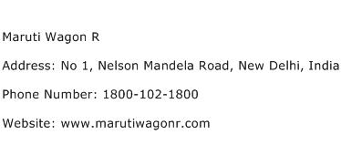 Maruti Wagon R Address Contact Number