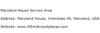 Maryland House Service Area Address Contact Number