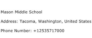 Mason Middle School Address Contact Number