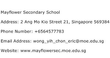 Mayflower Secondary School Address Contact Number