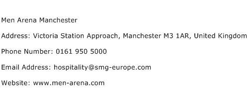 Men Arena Manchester Address Contact Number