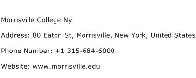Morrisville College Ny Address Contact Number