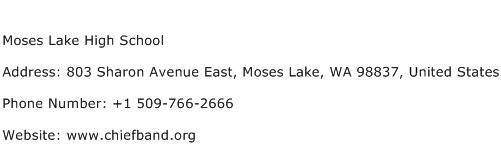 Moses Lake High School Address Contact Number
