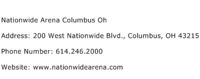 Nationwide Arena Columbus Oh Address Contact Number
