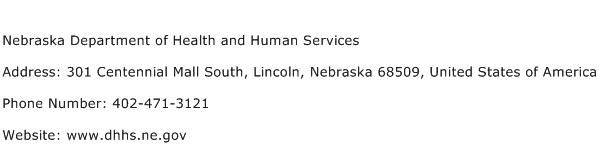 Nebraska Department of Health and Human Services Address Contact Number