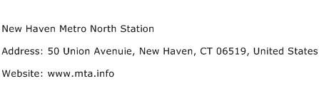 New Haven Metro North Station Address Contact Number