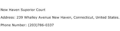 New Haven Superior Court Address Contact Number