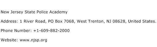 New Jersey State Police Academy Address Contact Number