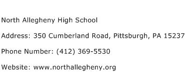 North Allegheny High School Address Contact Number