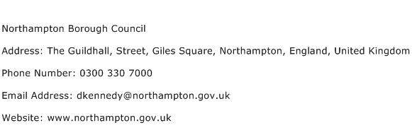 Northampton Borough Council Address Contact Number