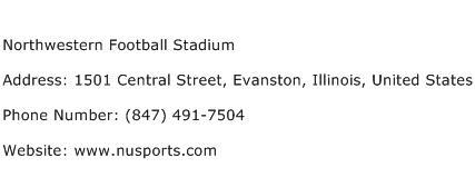 Northwestern Football Stadium Address Contact Number