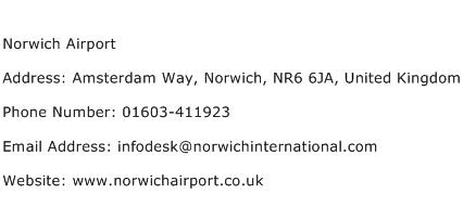 Norwich Airport Address Contact Number