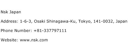 Nsk Japan Address Contact Number