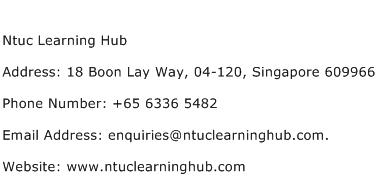 Ntuc Learning Hub Address Contact Number