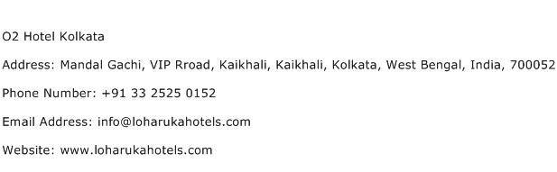 O2 Hotel Kolkata Address Contact Number