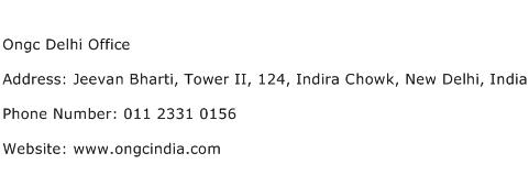 Ongc Delhi Office Address Contact Number
