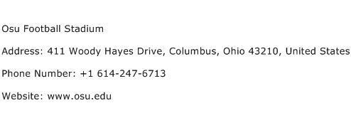 Osu Football Stadium Address Contact Number