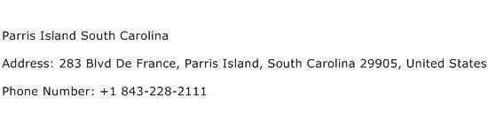 Parris Island South Carolina Address Contact Number