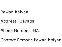 Pawan Kalyan Address Contact Number