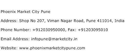 Phoenix Market City Pune Address Contact Number