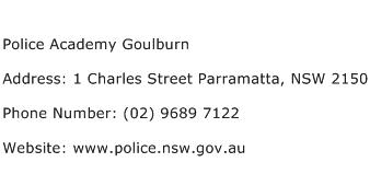 Police Academy Goulburn Address Contact Number