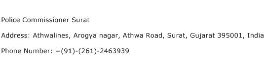 Police Commissioner Surat Address Contact Number