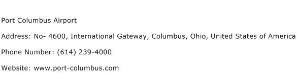 Port Columbus Airport Address Contact Number