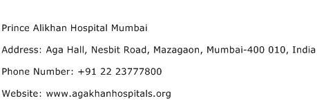 Prince Alikhan Hospital Mumbai Address Contact Number