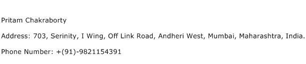 Pritam Chakraborty Address Contact Number
