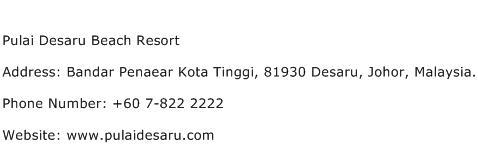 Pulai Desaru Beach Resort Address Contact Number
