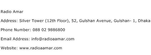 Radio Amar Address Contact Number