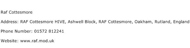 Raf Cottesmore Address Contact Number