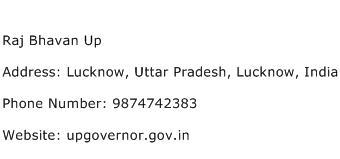 Raj Bhavan Up Address Contact Number