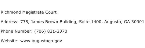 Richmond Magistrate Court Address Contact Number