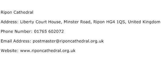 Ripon Cathedral Address Contact Number