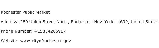 Rochester Public Market Address Contact Number