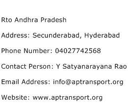 Rto Andhra Pradesh Address Contact Number