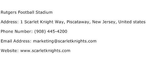 Rutgers Football Stadium Address Contact Number