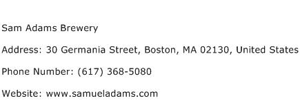 Sam Adams Brewery Address Contact Number