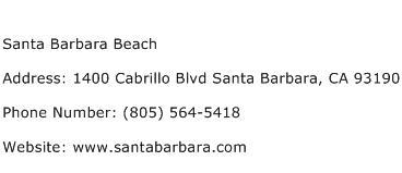 Santa Barbara Beach Address Contact Number