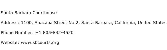 Santa Barbara Courthouse Address Contact Number