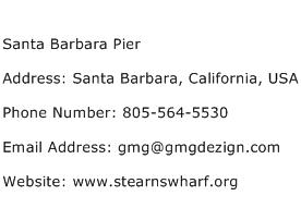 Santa Barbara Pier Address Contact Number