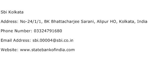 Sbi Kolkata Address Contact Number