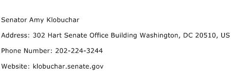 Senator Amy Klobuchar Address Contact Number